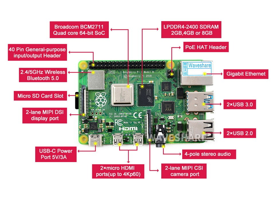 Raspberry Pi 4 Model B 8GB RAM available in Nepal specification 788